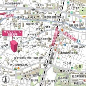 ヴェルデュール高田馬場案内図