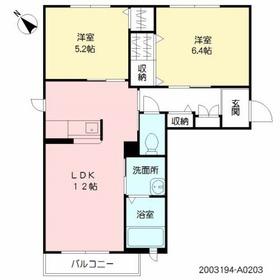 シャーメゾン新水前寺2階Fの間取り画像