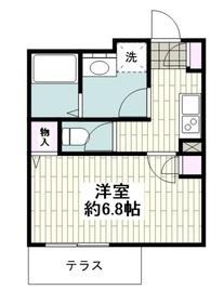 京急田浦駅 徒歩2分3階Fの間取り画像