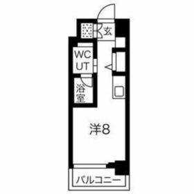 クラリッサ横浜中央7階Fの間取り画像