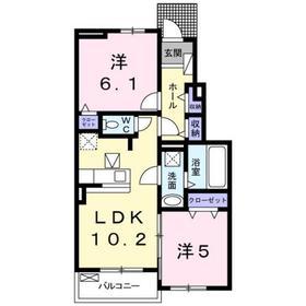 西八王子駅 バス18分「楢原町」徒歩2分1階Fの間取り画像