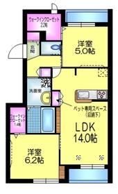 トーヨーメゾン松島2階Fの間取り画像