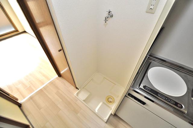 イマザキマンションエヌワン 洗濯機置場が室内にあると本当に助かりますよね。