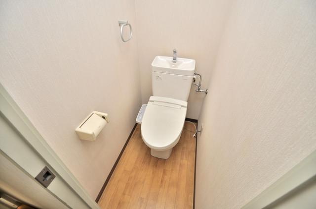 サンモール 清潔感のある爽やかなトイレ。誰もがリラックスできる空間です。