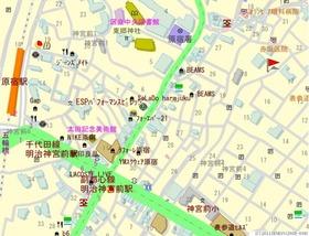 ストーリア神宮前案内図