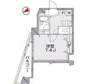 グランヴァン阿佐ヶ谷II2階Fの間取り画像