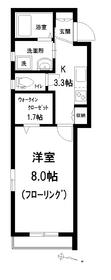 メゾン クリスタ3階Fの間取り画像