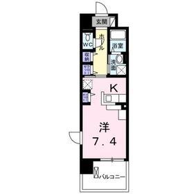 オーベルコート1階Fの間取り画像