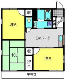 瀬谷駅 徒歩8分2階Fの間取り画像
