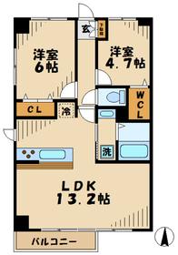 KEYAKI GARDEN(欅ガーデン)3階Fの間取り画像
