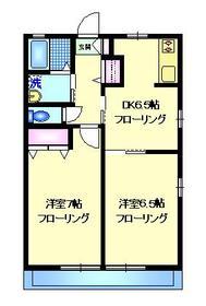 ハイツエイワⅡ1階Fの間取り画像