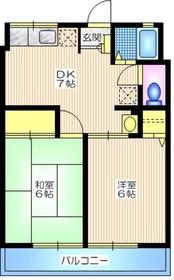 シティハイムコイデA2階Fの間取り画像