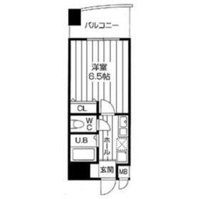 アブレスト桜川7階Fの間取り画像