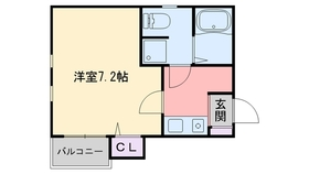 ピュア姪浜東1階Fの間取り画像
