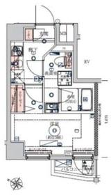VERXEED横濱WEST8階Fの間取り画像