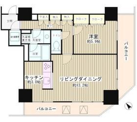 トレステージ目黒5階Fの間取り画像