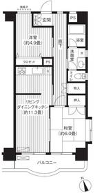 フジマンション第28階Fの間取り画像