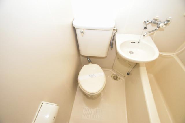 シティーコア高井田Ⅰ シャワー1本で水回りが簡単に掃除できますね。