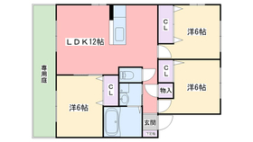 コーラルリーフ小戸A棟1階Fの間取り画像