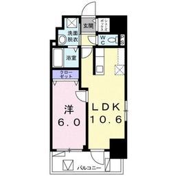 ロジュマン ベル11階Fの間取り画像