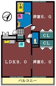 シェルハイム1階Fの間取り画像