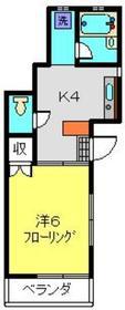 村上ハイツ2階Fの間取り画像
