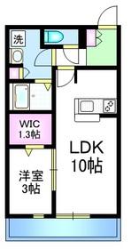 レジオン五清1階Fの間取り画像
