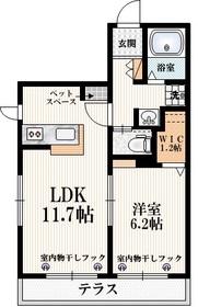 狛江駅 徒歩15分1階Fの間取り画像