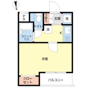 スカイコート池袋西弐番館2階Fの間取り画像