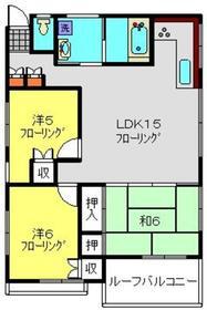 大塚ハイツ1階Fの間取り画像