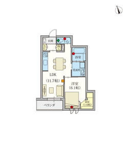 (シニア限定)ヘーベルVillage調布富士見町2階Fの間取り画像
