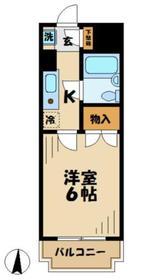 クライス伊藤3階Fの間取り画像