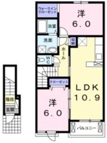 プラシード A2階Fの間取り画像