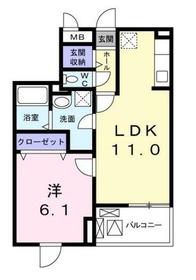 フォレスターナ4階Fの間取り画像