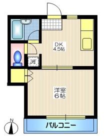 メゾン泰山3階Fの間取り画像