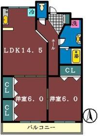 ラトゥール1階Fの間取り画像