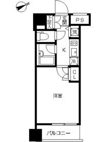 スカイコート品川大崎1階Fの間取り画像