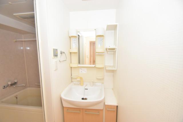 メゾン・ド・成屋大阪 独立した洗面所には洗濯機置場もあり、脱衣場も広めです。