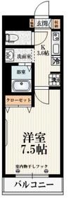 メゾン・ド・パトリ2階Fの間取り画像
