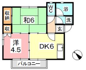 コアSK2階Fの間取り画像