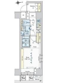 フュージョナル東日本橋4階Fの間取り画像