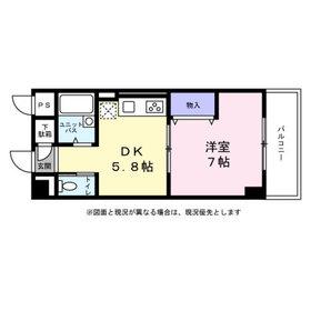 吹田駅 徒歩3分8階Fの間取り画像