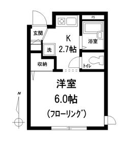 プティ フォンテ-ン1階Fの間取り画像