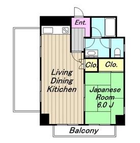 オアシス相模原ビル5階Fの間取り画像