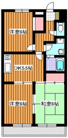 エントピアナミマ2階Fの間取り画像