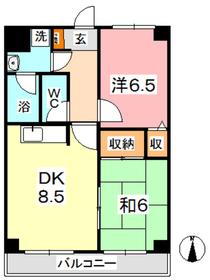 マンション曽根本4階Fの間取り画像