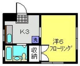 第2福田ハイツ2階Fの間取り画像