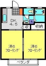 柴田ガーデンハイツF棟2階Fの間取り画像