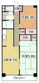 レユスイール向原4階Fの間取り画像