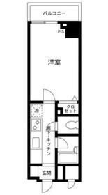 プライムアーバン飯田橋13階Fの間取り画像